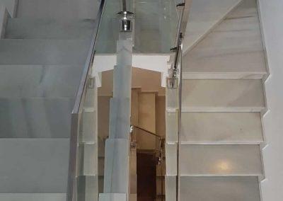 Escaleras de cristal, cerramientos Acristala2.com