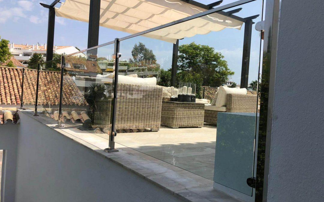 Instalacion Cristalera Terraza y Escalera